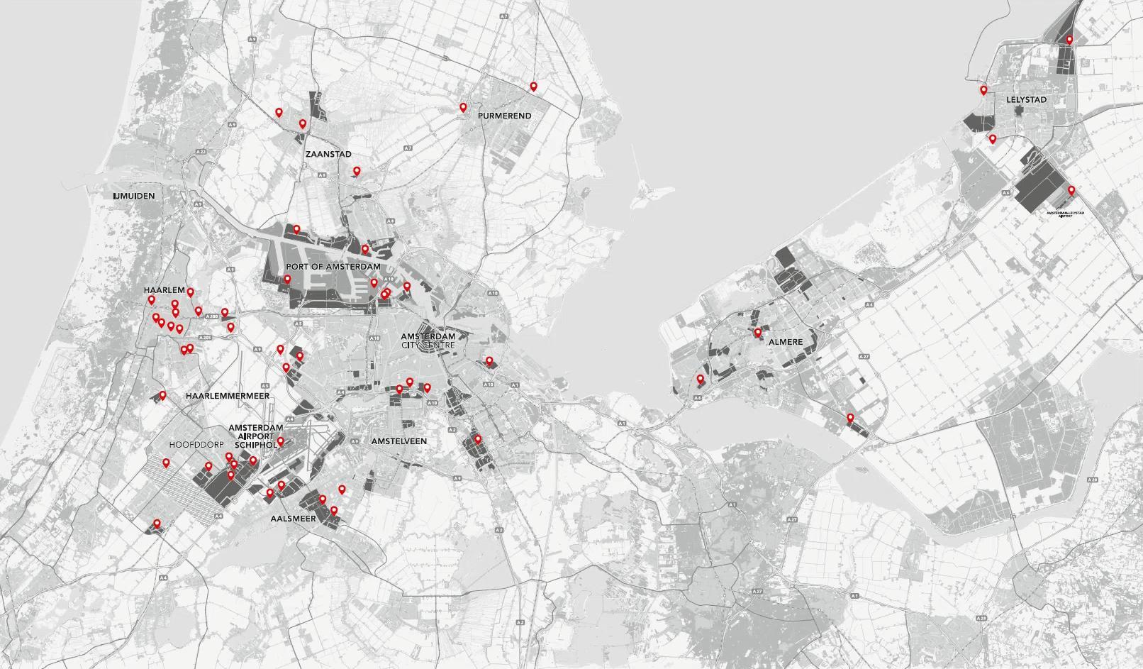 Amsterdam Hovedstadsomradet Kort Kort Over Amsterdam